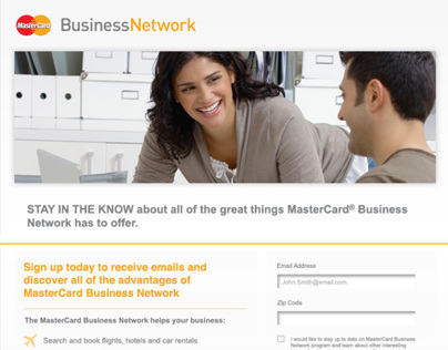 MasterCard Email Opt-In Platform for Business Customers