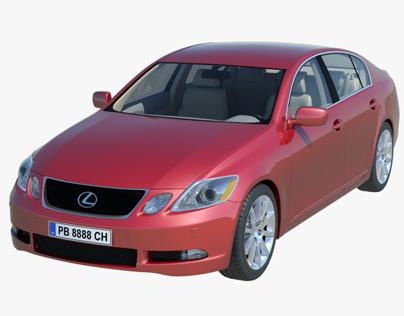 Lexus GS - high poly model