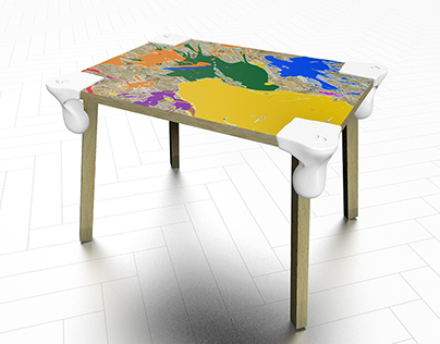 Dripping Table Small. 3D printed corner piece.