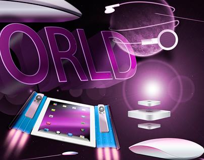 iWorld Photoshop composition