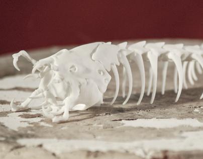 Mongolian Death Worm Skeleton