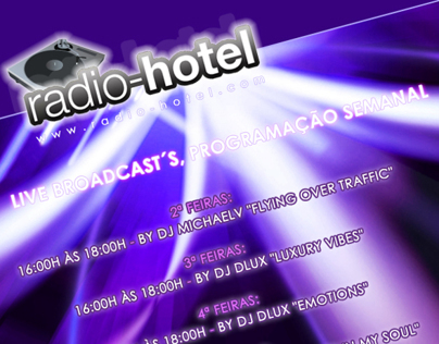 radio hotel flyer design