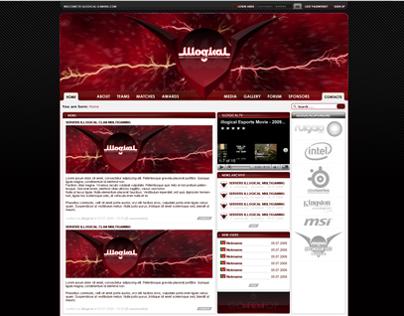 illogical gaming website & logo design