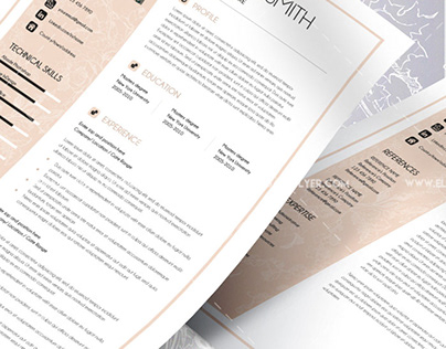 Premium CV and Cover Letter PSD Template