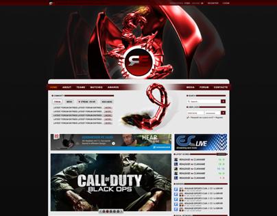 release e-sports website and logo design