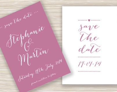 Wedding Save the Date Cards - Stephanie & Martin