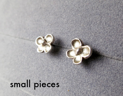 Silver Earring - small pieces