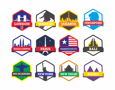 City Badges and Icons