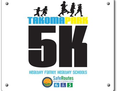 Takoma park 5k logo