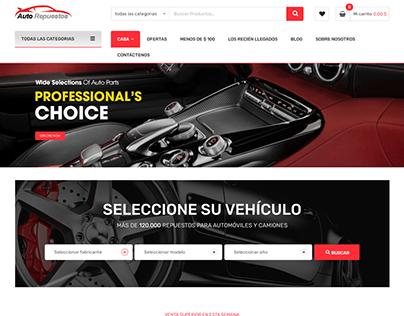 Diseño UI/UX - Pagina web Auto Repuestos