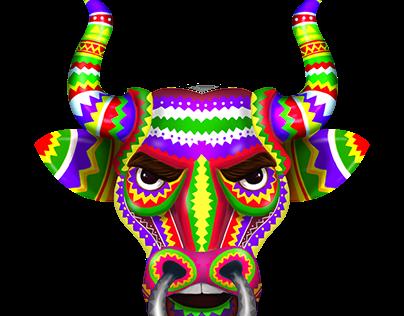 Mexican Fiesta - Skill Game Object - Bull