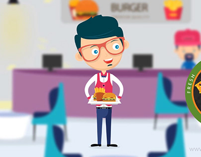 Burger Guy - Character illustrations