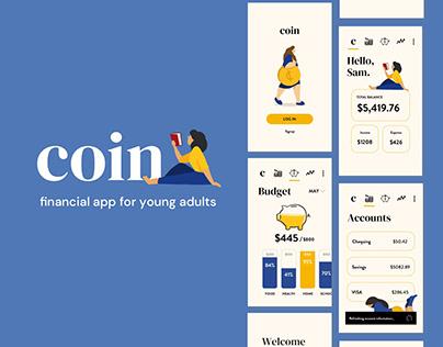 """Coin"" Financial App: UX/UI Case Study"