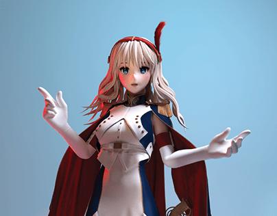 3D Anime costume design