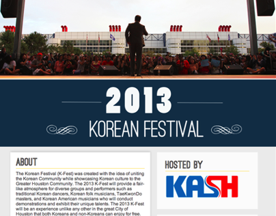 Korean Houston Festival Site Redesign