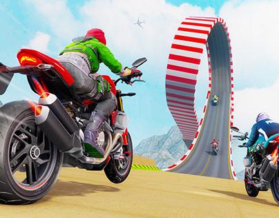 Crazy Bike Stunt Race 3D