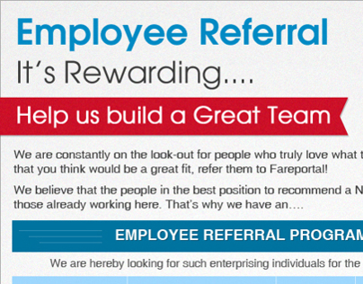 posters for employee referral on behance