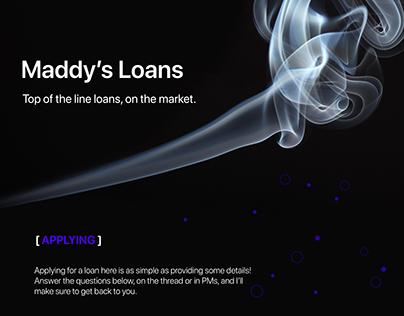 Maddy's Loans Thread Design