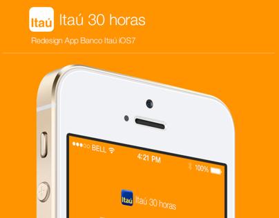 Redesign App Banco Itaú for iOS