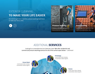 Cleaning website landing page
