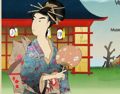 Ukiyo-e art