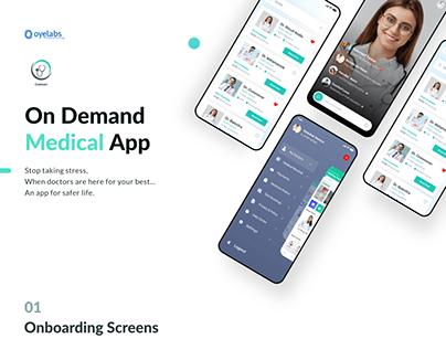 On-Demand Medical App UI Kit