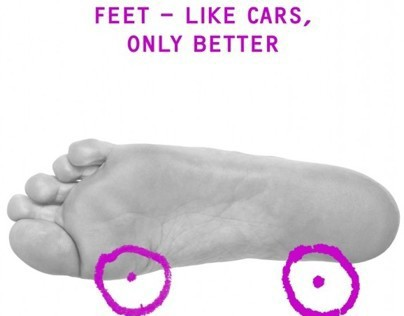 """Feet - like cars, only better"""