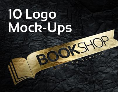 10 Photorealistic Logo Mock-Ups