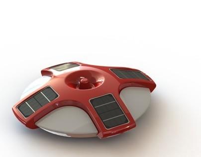 Rotation molded pool alarm