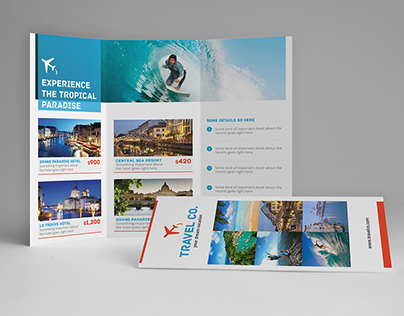 Travel A4 / Letter Trifold Brochure