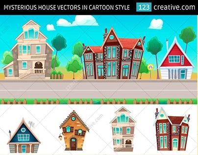 Cartoon house vector pack