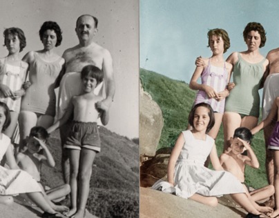 Retouching and repairing of vintage photos