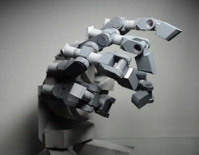 Mechanical Hand Papercraft