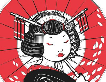 Linear Geisha Dolls