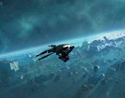3D model of Mass Effect's Normandy SR1