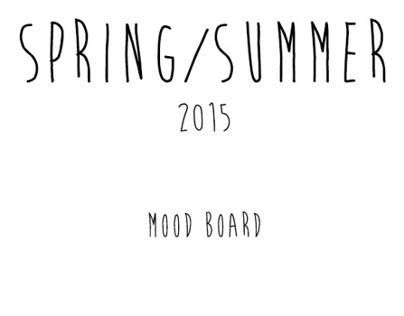 S/S 2015 Trend Forecasting Boards