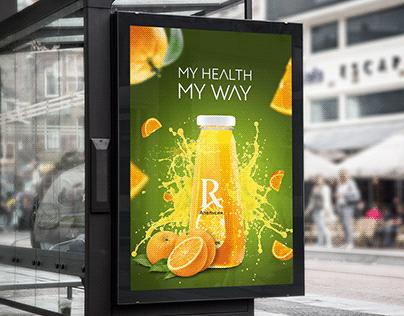 Rich juice poster concept