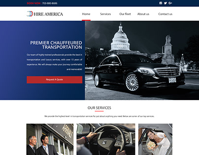 Website development services for a Chauffeur company