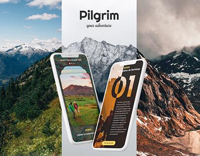 UI/UX for Travel IOS app | Pilgrim route