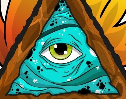 Eye in Flames (Tattoo Design Illustration)
