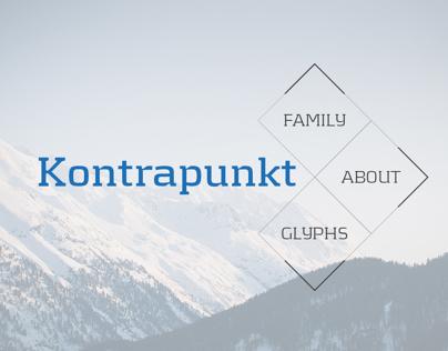 Kontrapunkt - Type specimen for iPad