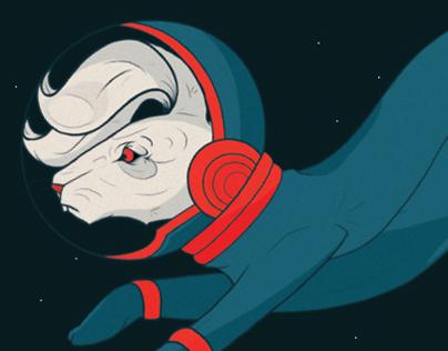 Animal Astronauts Infographic Poster