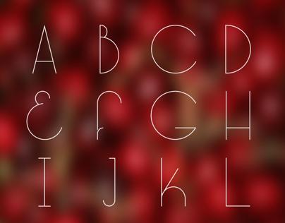 Long Cherry Typeface