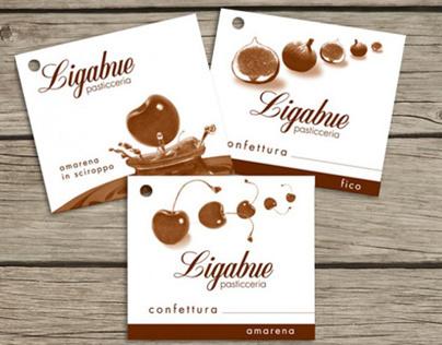 Ligabue Pasticceria   Jam labels
