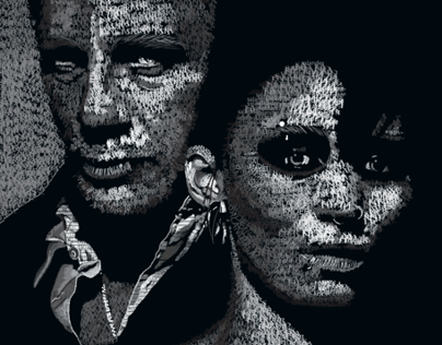 Typographic Portrait (Girl With The Dragon Tattoo)