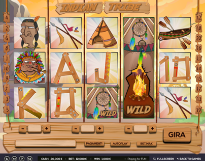 Slot Machine (INDIAN TRIBE) ©