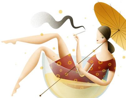 "Illustrations for ""Mamy i MiniMini+"" e-magazine"