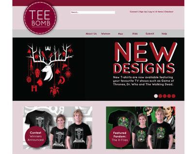 Tee Bomb B2C Website