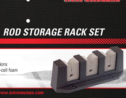 Rod Storage Rack Set Packaging, Header Card