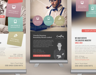 Creative Design Agency Roll-up Banners